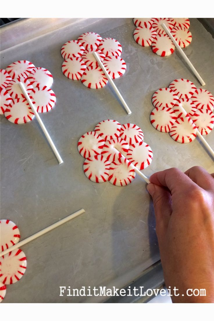norhface Bake starlight mints into lollipops for a sweet peppermint treat  or use them for decorations at your sweet candy land party
