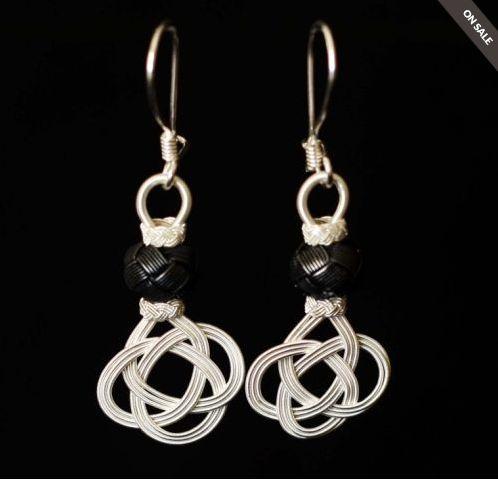 """Unique handmade """"Kazaz"""" earrings."""
