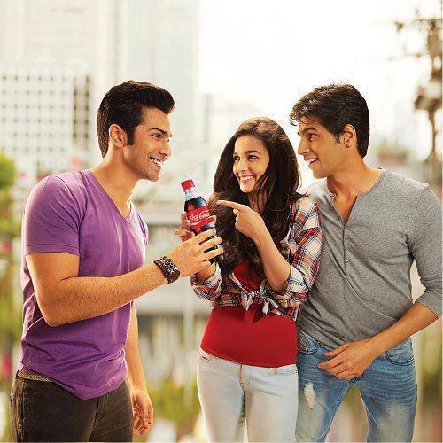 Siddharth Malhotra, Varun Dhawan & Alia Bhatt in Coca Cola Ad