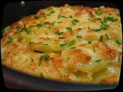 Картошка слоями запеченая в духовке - YouTube