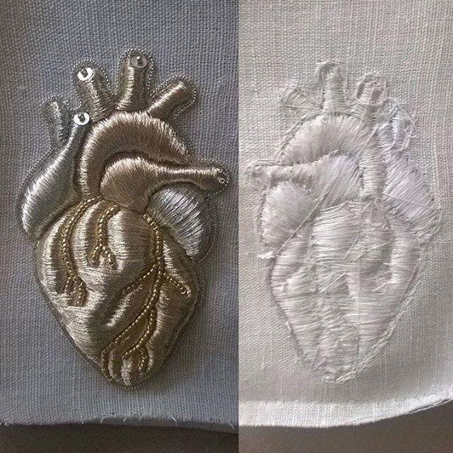 "120 curtidas, 1 comentários - Marina Knyazeva (@submarina707) no Instagram: ""#submarina707 #handembroidery #goldworkembroidery #handmade #brooch #embroideredjewelry #embroidery…"""