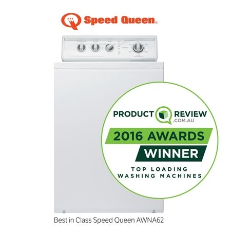 Speed Queen has been awarded an inaugural 2016 Product Review Awards as the top-performing product of the year in the top load washing machine category. The AWNA62 traditional top load washing machine is Speed Queen's most popular home model providing simple controls with optimum washing performance in only 35 minutes for a full load.