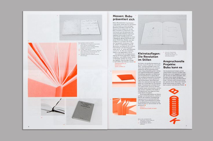Print for Swiss binding specialists Bubu by graphic design studio Bob Design
