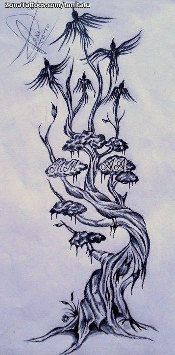 Diseño De árboles Aves Zonatattoos Com Tatuaje Arbol Disenos De Unas Diseños De árbol