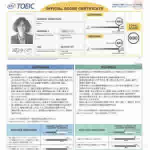 相澤俊幸の2014年7月TOEIC公開テスト スコアシート