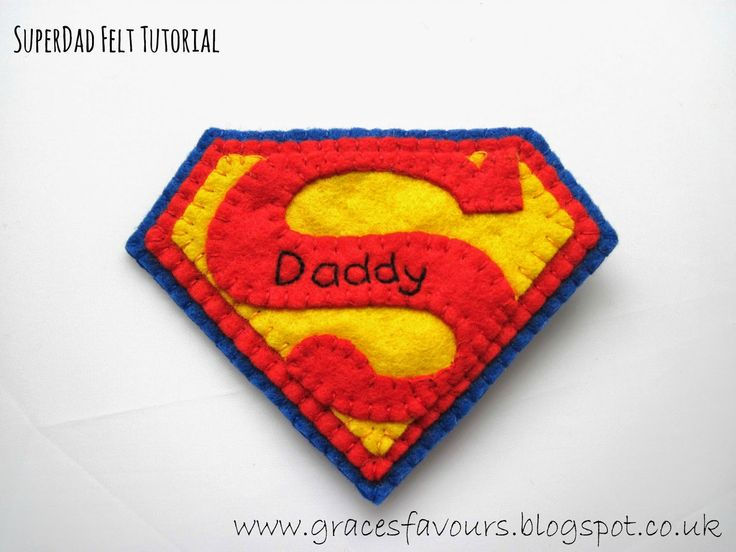 Grace's Favours - Craft Adventures: Superman How To - Father's Day Felty Tutorial