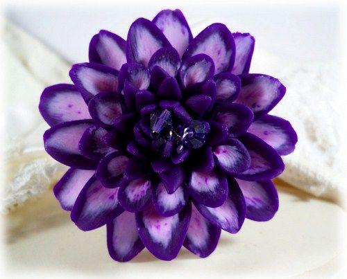 Purple Dahlia Brooch Pin | Purple Dahlia Lapel