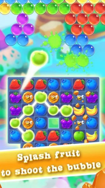 Bubble Splash v1.2.1 [Mod]   Bubble Splash v1.2.1 [Mod]Requirements: 2.3 Overview: From the makers of Garden Mania and Ice Crush comes a new match 3 and bubble pop game: Bubble Splash!  Mr and Mrs Susliks needs your help on their worldwide vacation. Splash fruits shoot through bubbles in hundreds of levels to help them keep on. Take on your friends and pop your way in this match 3 and pop puzzle!  Highlighted New Features   Creative game mode. A mix of match 3 and bubble pop game…
