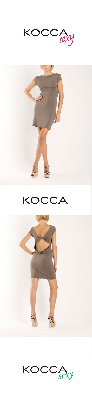 """""""EXFOLIA"""" Abito scollato dietro con applicazioni in metallo 95% Viscosa, 5% Elastan - available @ shop.kocca.it"""