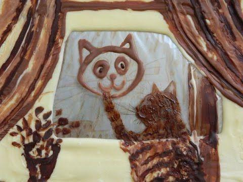 """Шоколадная рамка-открытка """"Автопортрет кота"""" от Julia Latte - YouTube"""