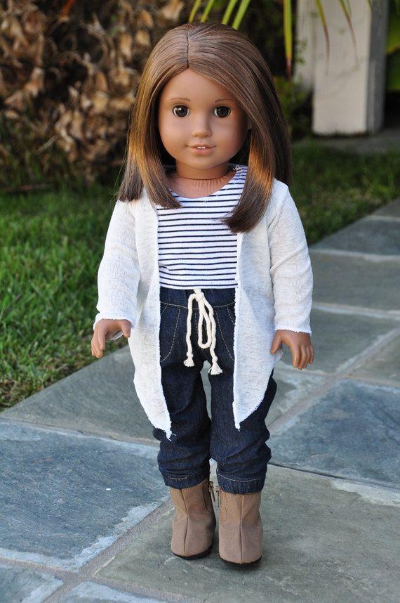American Girl Clothes  Cream Cardigan Wrap by LoriLizGirlsandDolls