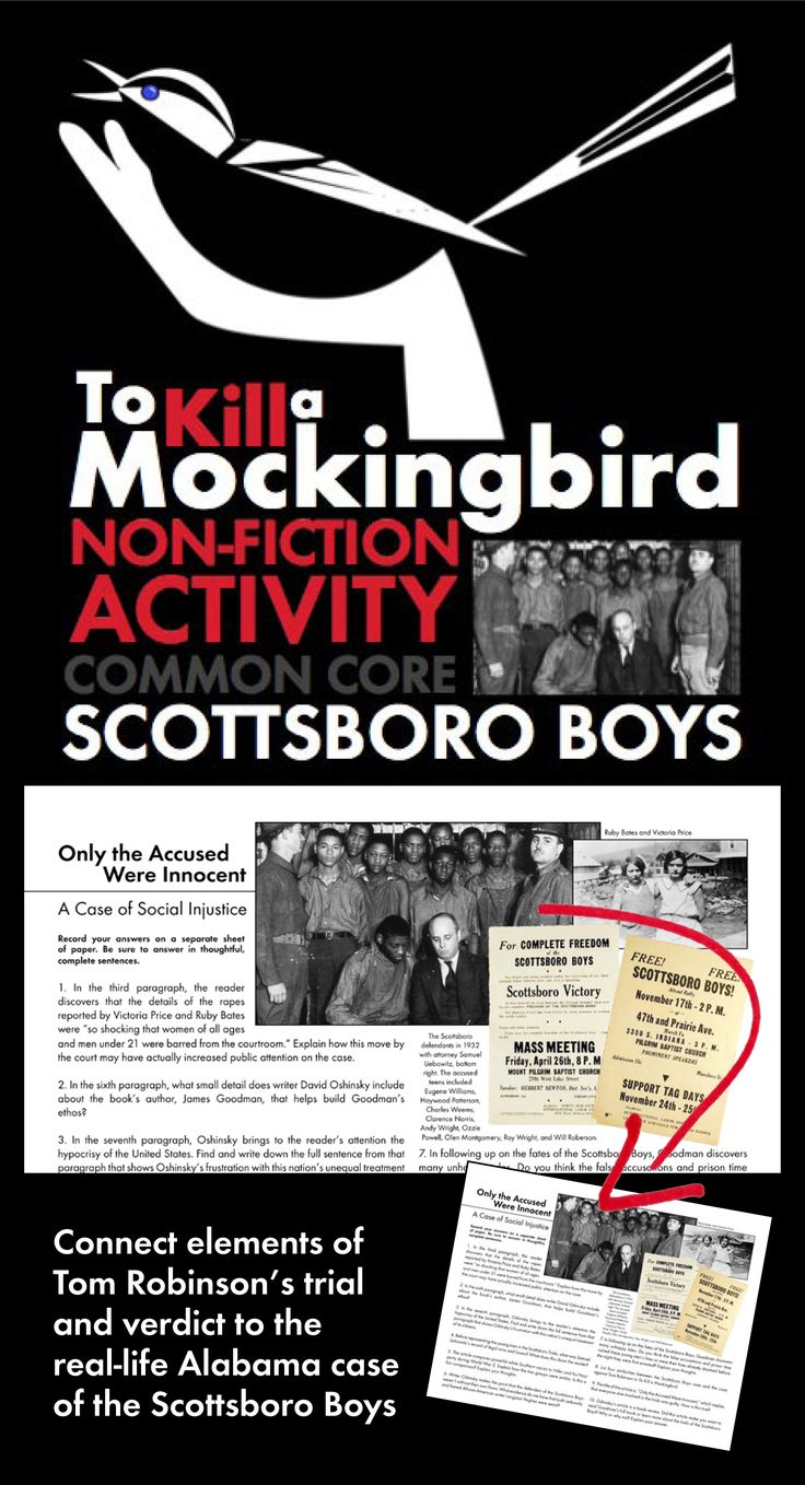17 best images about to kill a mockingbird gcse to kill a mockingbird non fiction link scottsboro boys to tom robinson trial