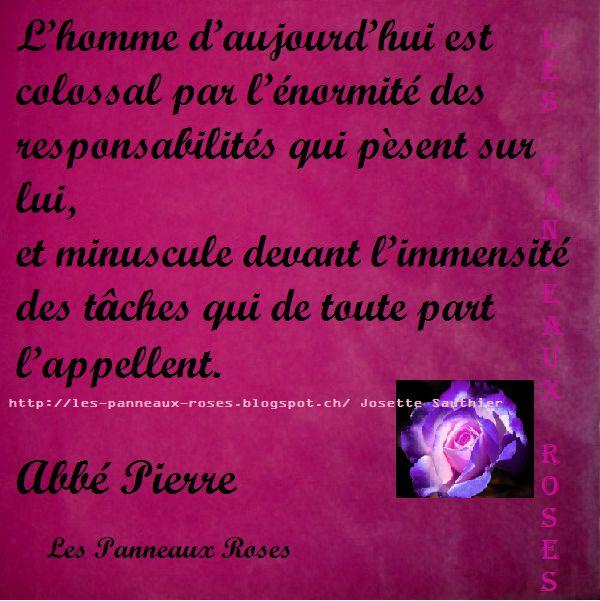 Citation peu connue de l'Abbé Pierre | citations en ...