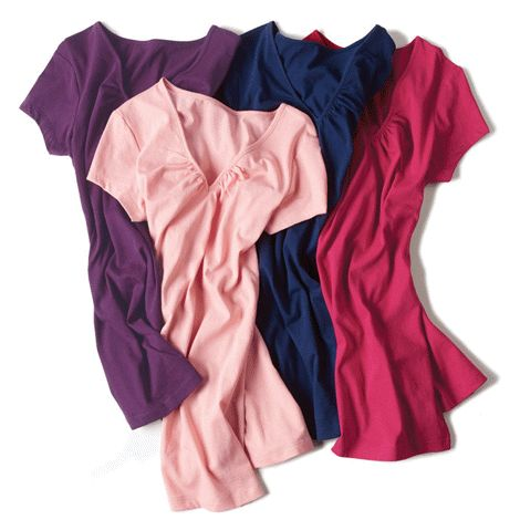 V-Neck Tees - 4 pack for $29.99 elizabeth.marra-chiodo@rogers.com  http://www.interavon.ca/elisabetta.marrachiodo