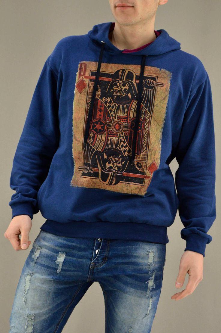 Ανδρικό φούτερ Vader Τραπουλόχαρτο FOUT-1216-bl | Φούτερ > Sport