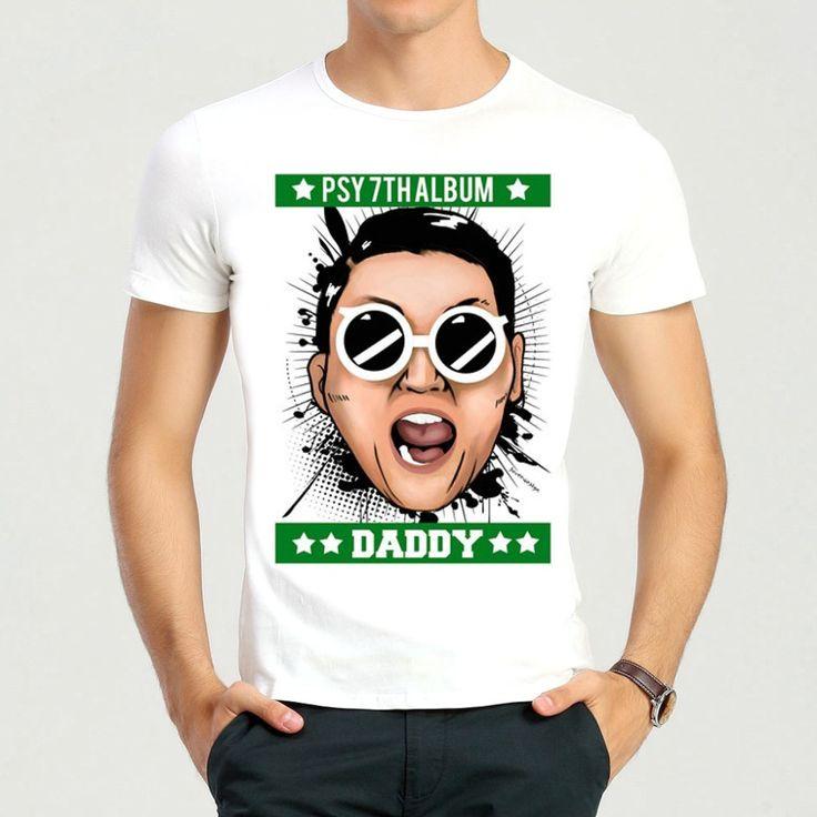 Free Shipping Singer PSY T-Shirt Short Sleeve Teenages PSY Gentleman Top Tees Shirt #Affiliate