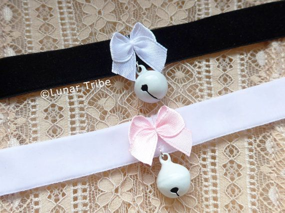 Cute handmade choker by Lunar Tribe Jewelry #choker #chokernecklace #necklace #cute #kawaii #white #black #pink #silver #velvet #spikes #rivet #bow #bell #jewelry #handmade #etsy #shop #cosplay #kitten #kittenplay #kinky #lolita #anime #style #fashion #bondage #sexy #lovely #madewithlove #goth #gothic #alternative #alt #jewellery #witchy