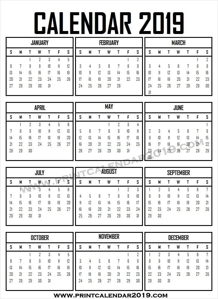 photograph about Printable Calendar With Week Numbers referred to as Blank Calendar 2019 With 7 days Figures 2019 Calendar