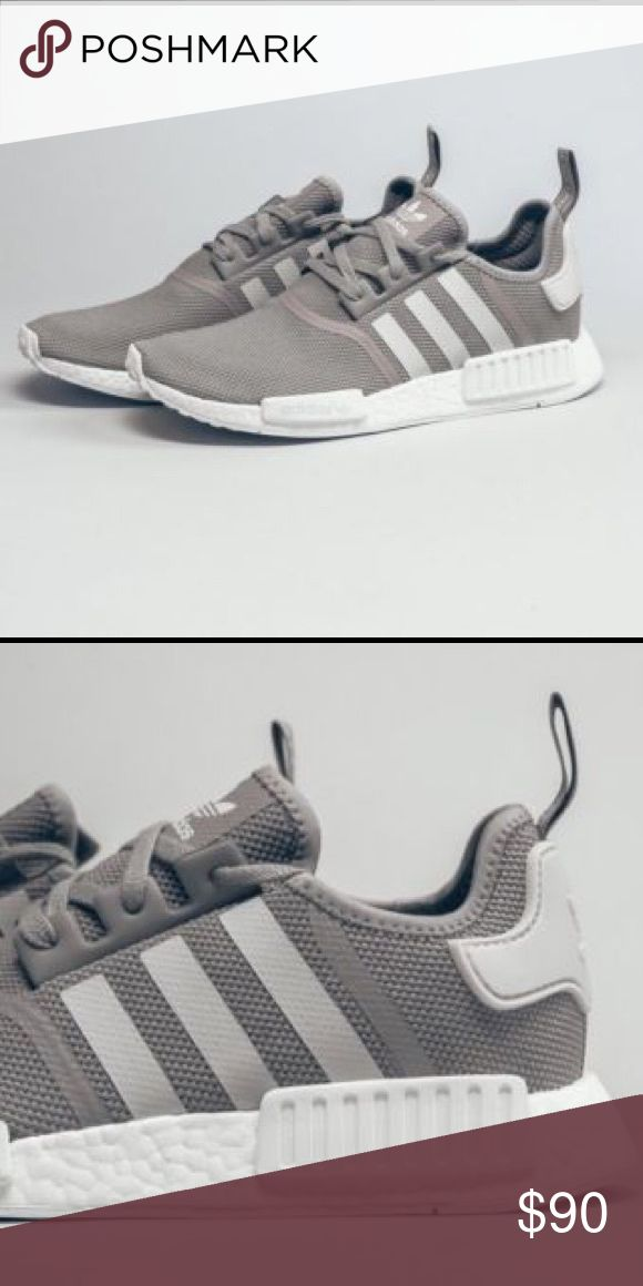 Authentic Grey Adidas Boosts NMD Worn Once.  Perfect condition. New. Selling because I got a black pair instead. Can ship same day or next if bought (: 6 1/2 kids - 7 women's Adidas Shoes