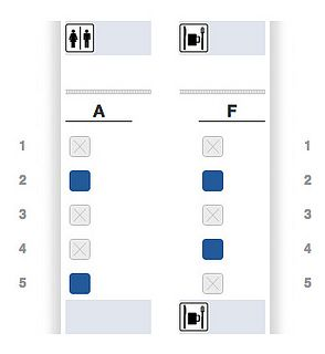First Class seats still available on American Airlines flight 133, the inaugural A321-Transcon flight from JFK to LAX.