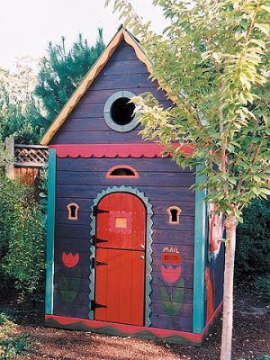 Painting ideas for the kids' garden cottage