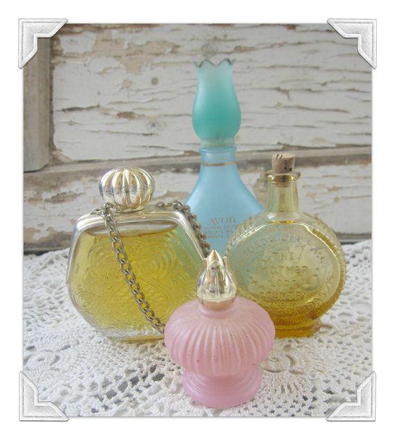 Vintage Perfume Bottle Collection Avon Blue by KathleenRobinaugh, $20.00