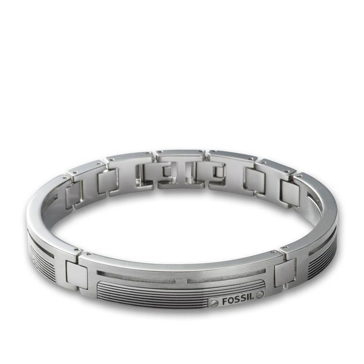 Fossil Armband für Herren JF84476040 mit Gravur aus der Serie Mens Dress hier online bestellen