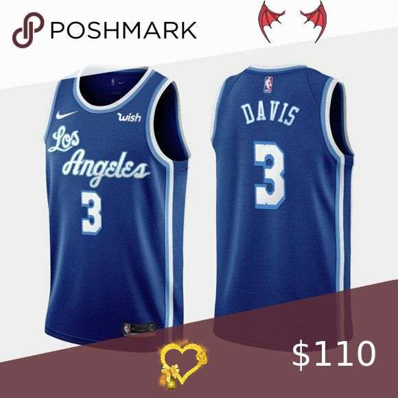 Los Angeles Lakers Anthony Davis Blue Jersey Whether You Re Attending A Dressing Party Or Wearing To Support Your Favor In 2020 Anthony Davis Los Angeles Lakers Jersey