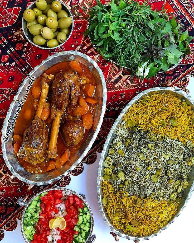 Yummy capture of delicious Baghala Polo ba Mahiche (Persian rice with dills ,Broad Beans and Lamb Shank) . This food is one of the most popular dishes in Iran, and is usually served at parties such as wedding ceremonies. And The origin of this food dates back to Safavid dynasty in 1501 Location: #Iran