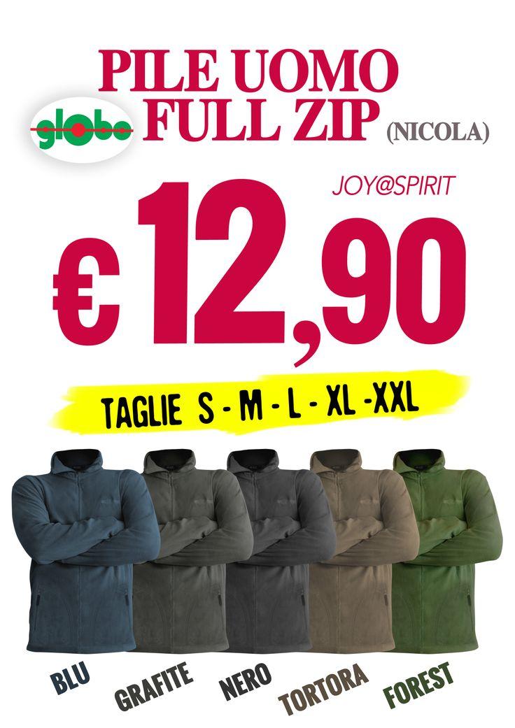 Novità Pile Full Zip Uomo a soli € 12.90