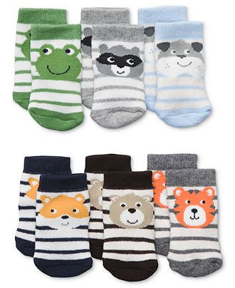 Carter's Baby Socks, Baby Boys 6-Pack Socks - Kids Baby Boy (0-24 months) - Macy's