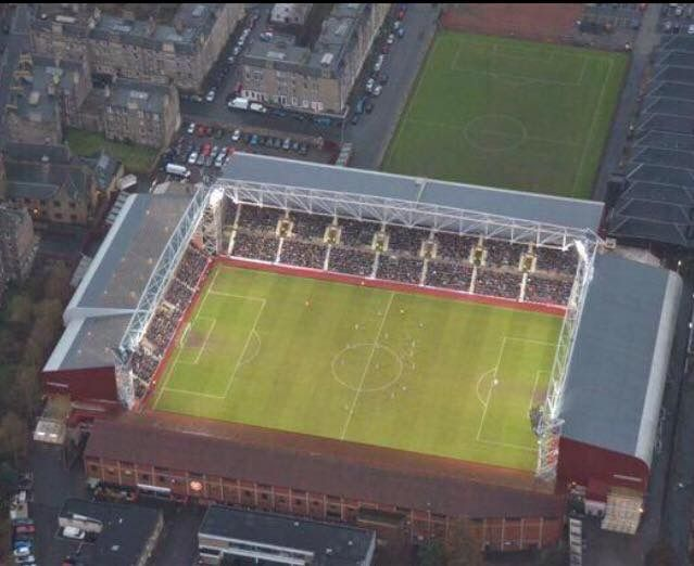 Tynecastle Park. Home of Heart Of Midlothian FC