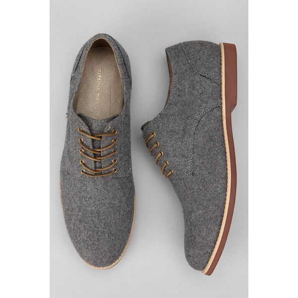 See this and similar Hawkings McGill men's shoes - Updated buck shoe from Hawkings McGill Wool flannel uppers Corded laces Leather lining Cushioned footbed Bric...