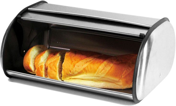 Features:  -Cool, dark interior keeps bread and baked goods warm and fresh.  -Door opens and closes smoothly.  -Large capacity bread bin made of brushed stainless steel.  Product Type: -Bread boxes.