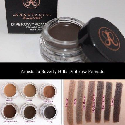 Anastasia Beverly Hills dipbrow swatches