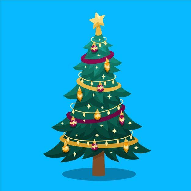 Download Flat Design Illustration Christmas Tree For Free Flat Design Illustration Flat Design Magazine Layout Design