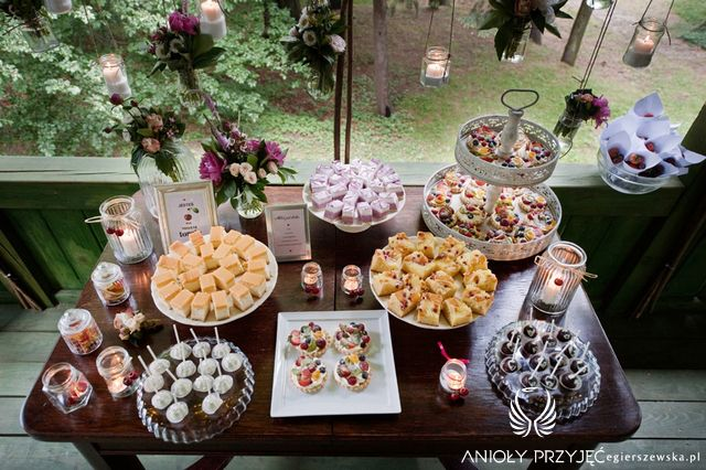 Cherry Wedding,Sweet table,Rustic wedding,Sweets / Czereśniowe wesele,Słodki stół,Rustykalne wesele,Słodkości,Anioły Przyjęć