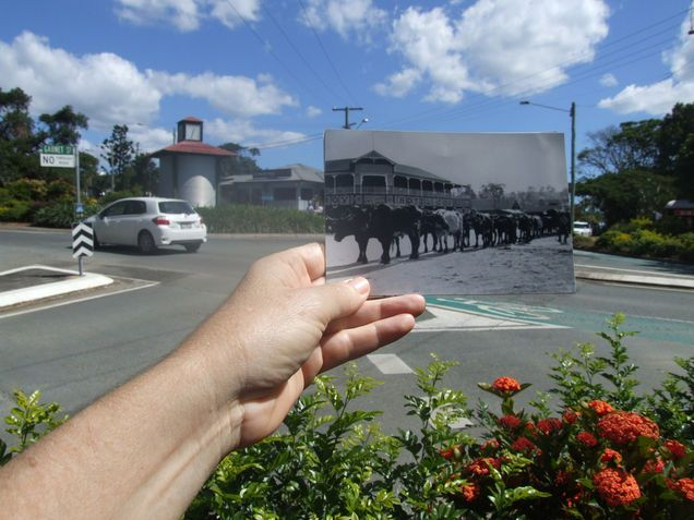 Now and Then Bullock team go past Hotel Cooroy by Debartist
