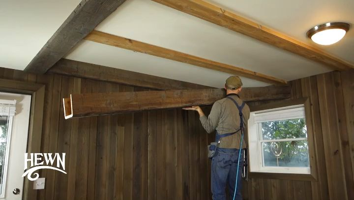 Real Wood Box Beams Hewn Video Video Wood Beam Ceiling Ceiling Beams Living Room Ceiling Beams