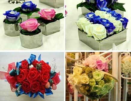 생화로는 오래 감상할 수 없는 꽃을 탈수와 유연제 처리로 2년 이상 생화의 형태와 질감을 유지할 수 있는 상태로 만든 꽃 .