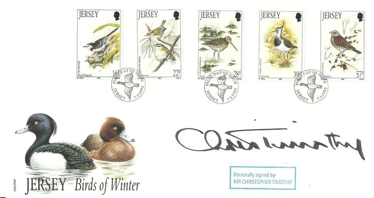 Mr Christopher Timothy signature on Birds of Winter FDC Just listed and available to bid on now!!!