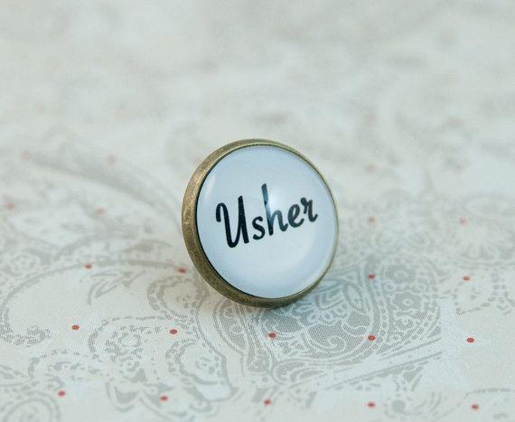 Usher Lapel Pin Tie Tack Tie Pin Groomsmen Gift Wedding by KCowie, $12.95