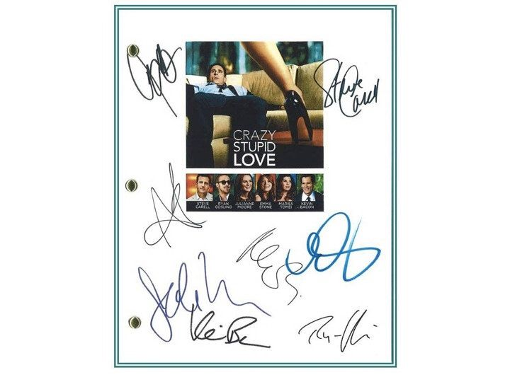 Crazy, Stupid, Love Movie Script Signed Screenplay Autographed: Steve Carell, Ryan Gosling, Julianne Moore, Emma Stone, Kevin Bacon by hollywoodfinds on Etsy https://www.etsy.com/listing/222278699/crazy-stupid-love-movie-script-signed