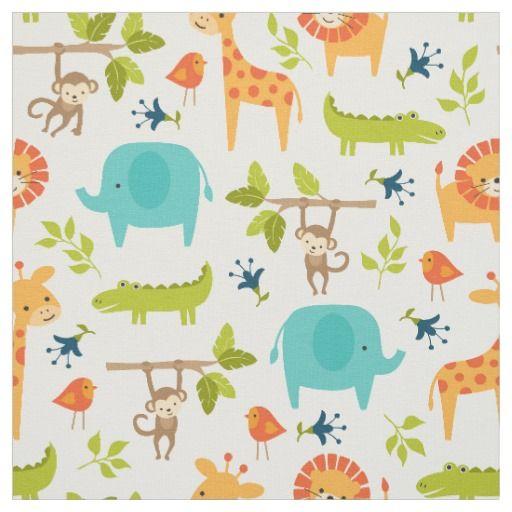 Safari Animals Nursery Fabric