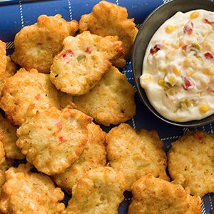 Whether you're hosting an event or looking to try something new, we're sure you'll love Kelsey's Corn & Crab Fritters! Made with canned crab meat, green chiles and mexicorn!