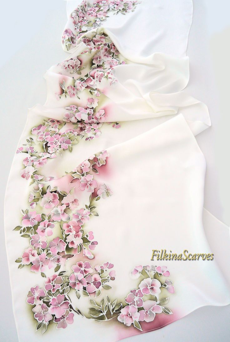 I have a thing for floral silk scarves....