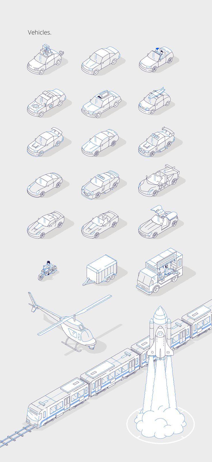CHASE Illustrations on Behance | Illustrations | Axonometric