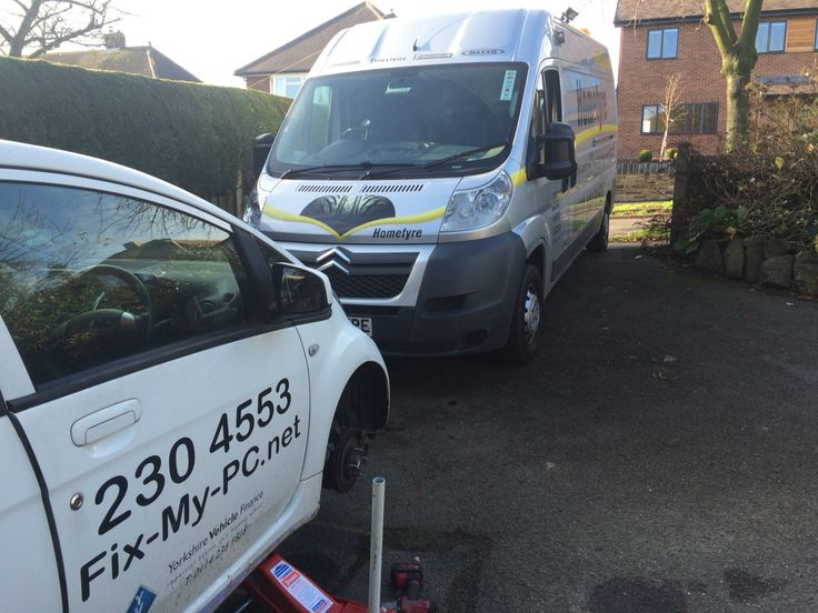 Fitting new winter tyres to a customers business vehicle! Hometyre Sheffield  http://www.hometyre.co.uk/mobile-tyre-fitting/mobile-tyre-fitting-sheffield/