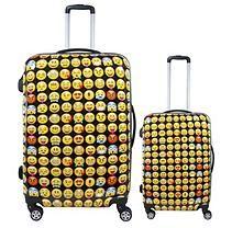 fūl Emoji Hard Case Spinner Luggage 2 Piece Set