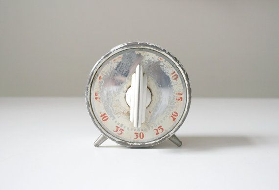 SALE Rustic Kitchen Timer by boxofhollyhocks on Etsy, $10.00